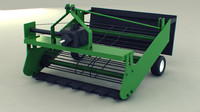 potato harvester 3d model