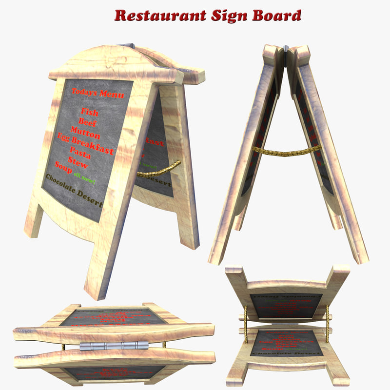 3ds max sign board