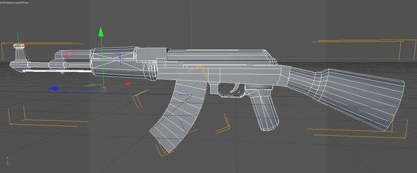3d model ak 47