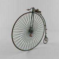 3d penny farthing bicycle