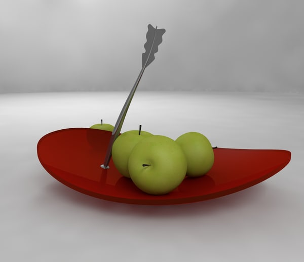 3d model decoration ware fruit
