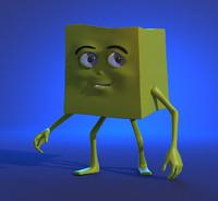 character glitch 3d model