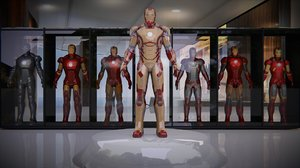 3d model iron man armours