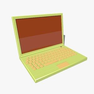 3d model cartoon laptop