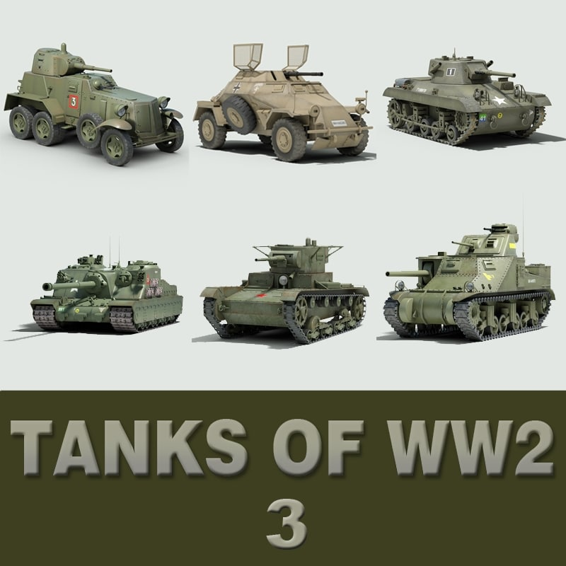 tanks ww2 3d model