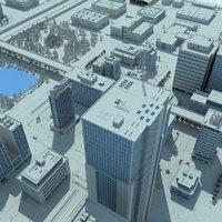 max city grey cityscape