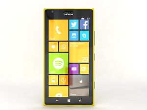 mobile phone nokia lumia 3d model
