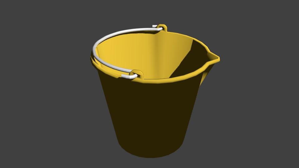bucket blender 3d blend