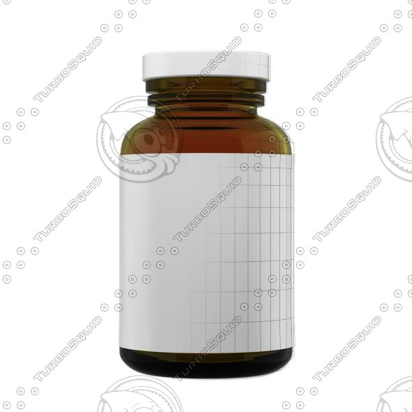 supplement bottle 3d ma