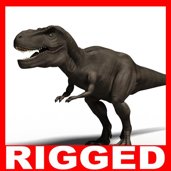t rex rigged 3d c4d