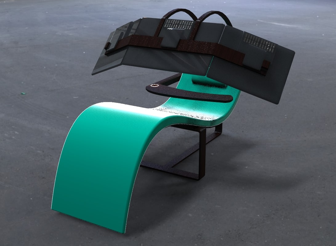 3ds max deck chair monitors