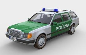 w124 polizei 3d model