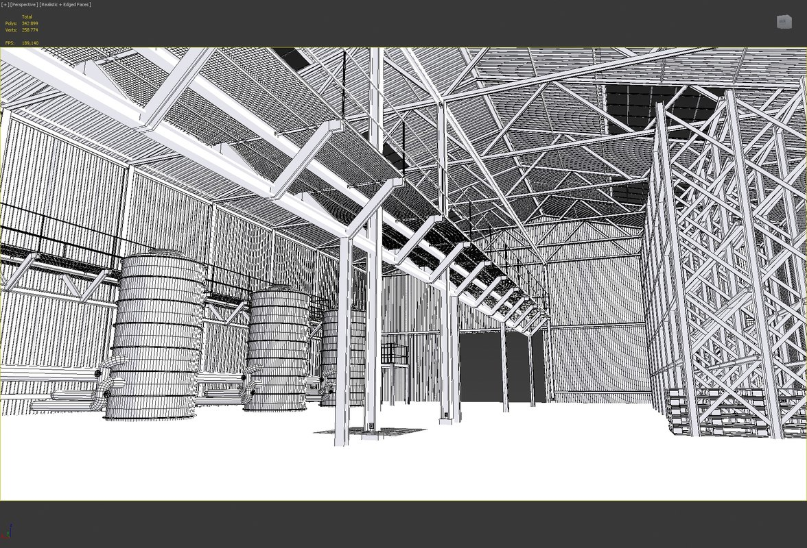 warehouse industrial 3d model