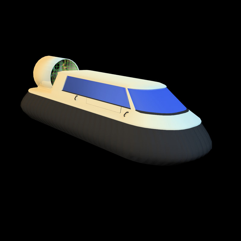 hovercraft air-cushion vehicle 3d model