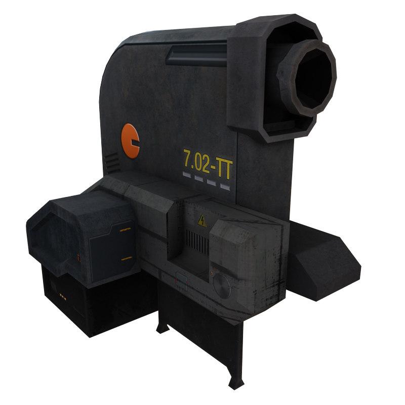 3d turret sci fi