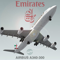3ds airbus a340-300 emirates