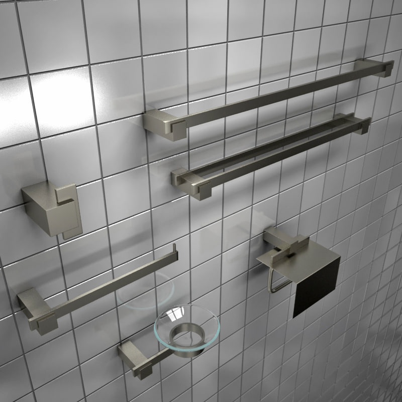 3d model bathroom accessories