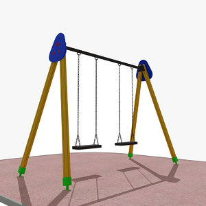 playground swing 3d model