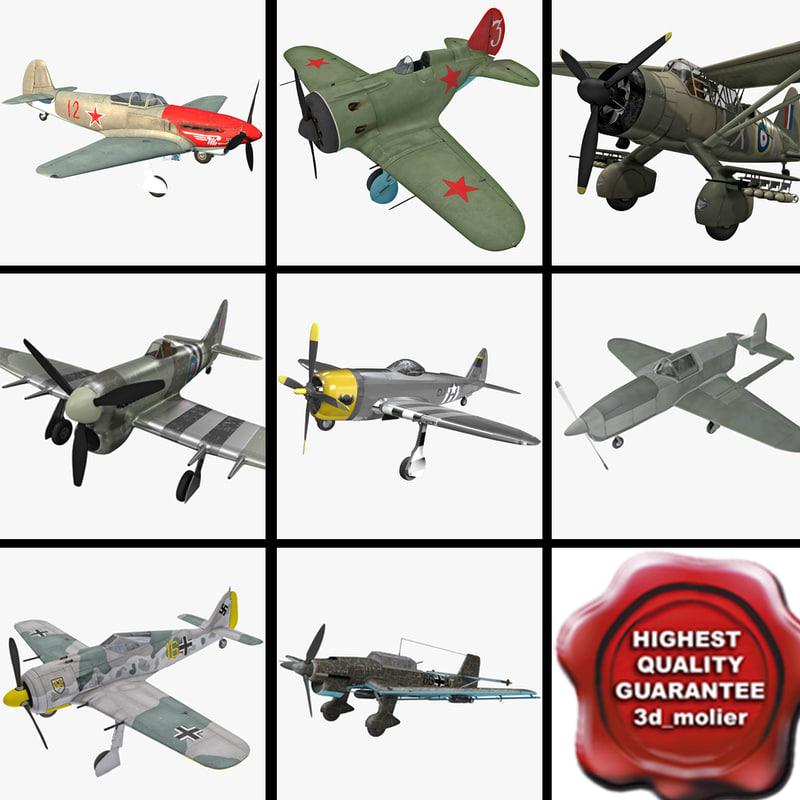 3dsmax world war ii aircraft
