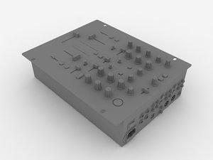 3d model of behringer dj mixer