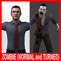 Zombie (Normal and Turned)(Rigged)