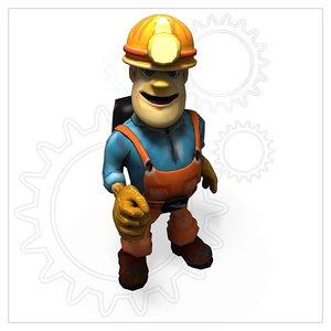 construction worker 3d c4d