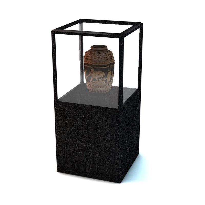 display case vase 3d model