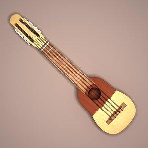 charanguito musical instrument 3d max