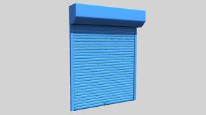 roller shutter 3d model