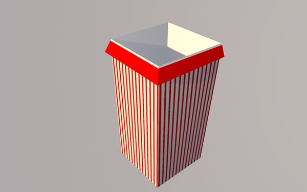 popcorn box 3d 3ds
