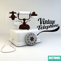 vintage telephone 3d 3ds