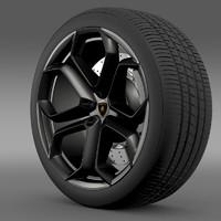 lightwave lamborghini aventador wheel