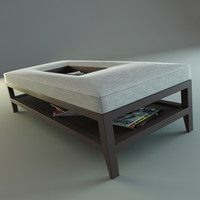 3d model of coffee table tray