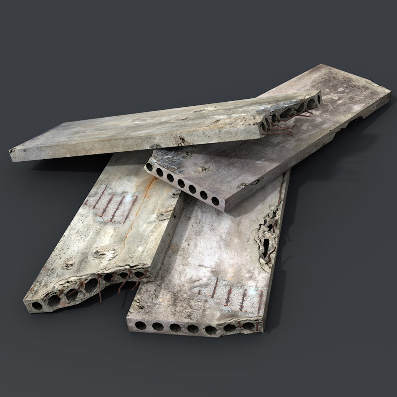 concrete slabs 3d model