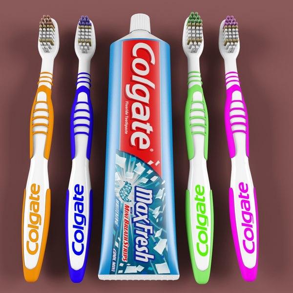 toothbrush brush 3d max