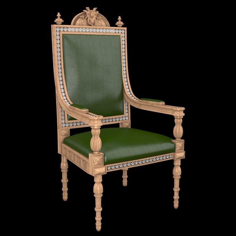 set classical antiquarian room 3d model