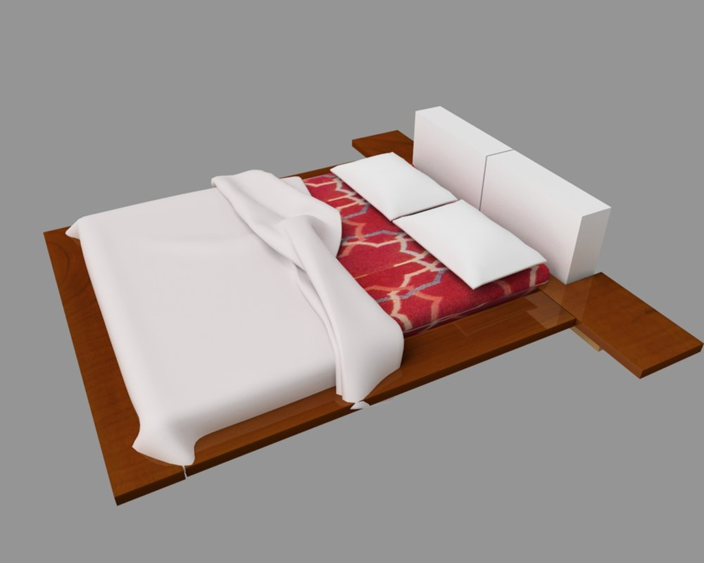 3ds max bed interior