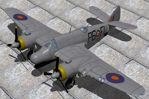 3d bristol fighter beaufighter tfx model