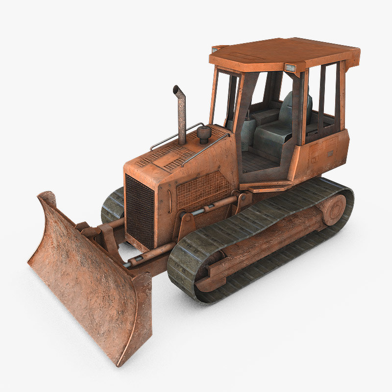 bulldozer dozer 3d model