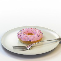 3d model donut 09