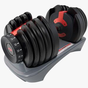 3d dumbbells bowflex selecttech