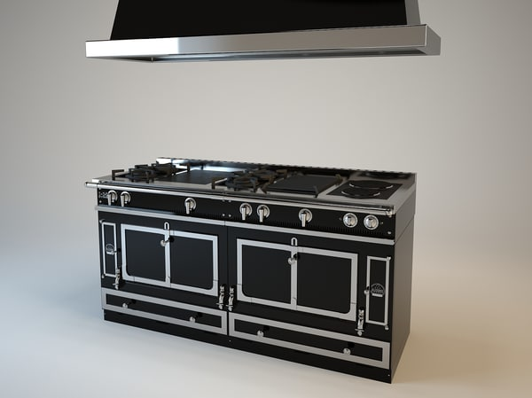 stoves la cornue grand 3d model