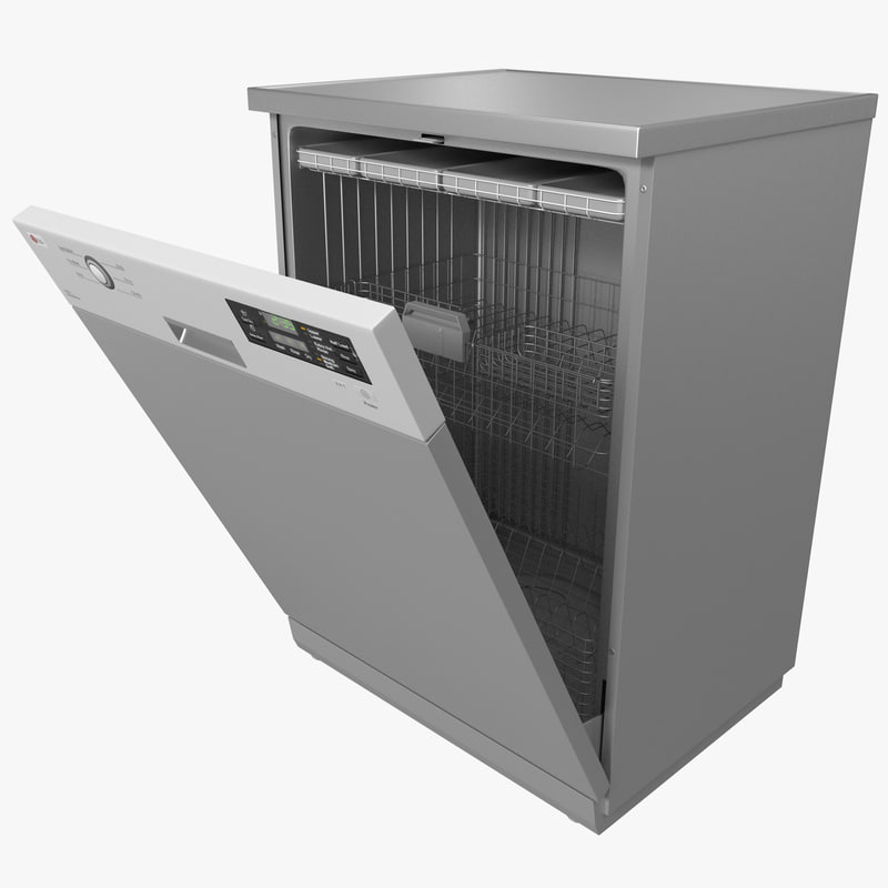 3d model lg dishwasher