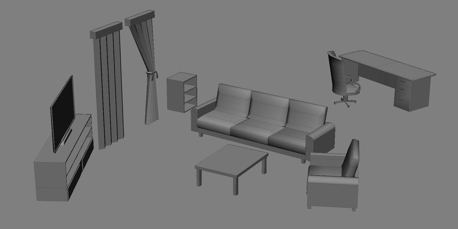 free 3ds mode set living room