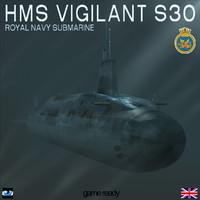 HMS Vigilant (S30) Submarine