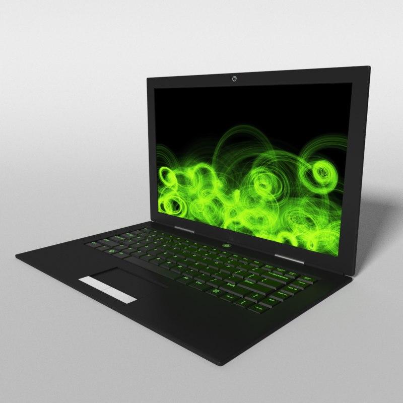 3d model gaming laptop