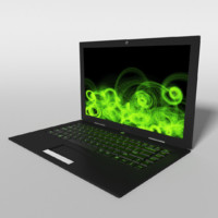 3d model gaming laptop