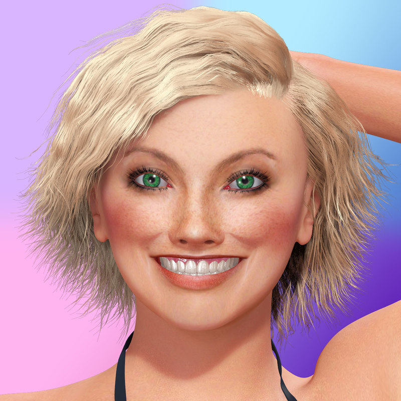sandra rigged woman hair max