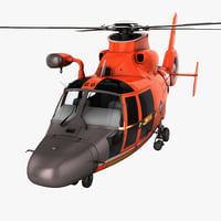 Search and Rescue Helicopter Eurocopter HH-65 Dolphin 2 Rigged
