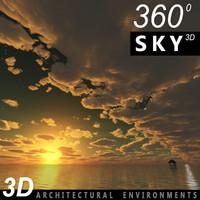 Sky 3D Sunset 007